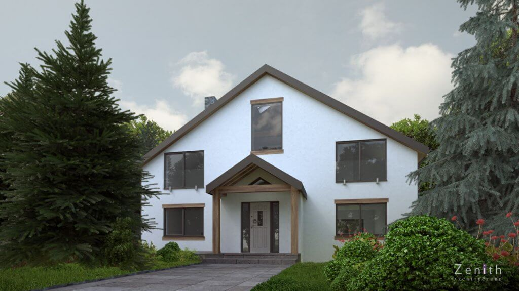 Artist's impression of Daryl and Hannah's completed renovation